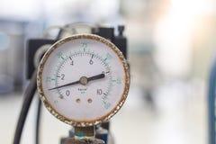 Indicador de presión de aire fotos de archivo