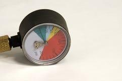 Indicador de presión de aire Imagen de archivo