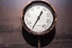 Indicador de presión del vintage Fotos de archivo libres de regalías