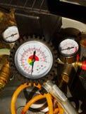 Indicador de presión de aire Foto de archivo libre de regalías