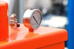 Indicador de presión exacto del instrumento del manómetro Fotografía de archivo