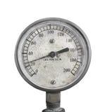 Indicador de presión viejo de aire aislado. Imágenes de archivo libres de regalías