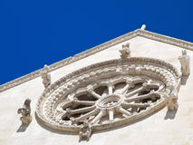 Indicador de Rosa da catedral de Giovinazzo. Apulia. Imagem de Stock Royalty Free