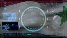 Indicador de Siria damasco Interacción de la tecnología Concepto del fondo de Digitaces del concepto del fondo de Digitaces ilustración del vector