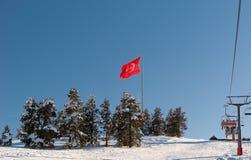 Indicador de Turquía en pico de montaña en Sarikamis Imágenes de archivo libres de regalías