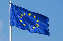 Indicador de unión europea Imagen de archivo