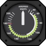 Indicador de velocidad aérea Imagen de archivo libre de regalías