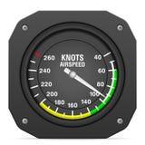 Indicador de velocidade aerodinâmica do instrumento do voo ilustração do vetor