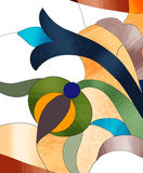 Indicador de vidro colorido Imagens de Stock
