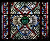 Indicador de vidro colorido em uma igreja Fotos de Stock Royalty Free