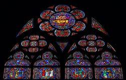 Indicador de vidro de Notre Dame Imagens de Stock