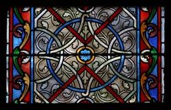 Indicador de vidro em uma igreja Fotografia de Stock