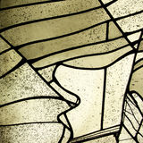 Indicador de vidro manchado Fotografia de Stock