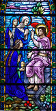 Indicador de vidro manchado do anjo da ressurreição imagem de stock