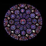 Indicador de vidro manchado redondo, Chartres fotos de stock