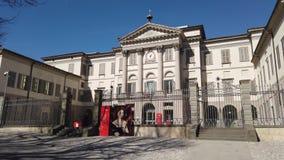 Indicador decorativo de um tenement hist?rico A galeria de arte e a academia das belas artes nomearam Accademia Carrara filme