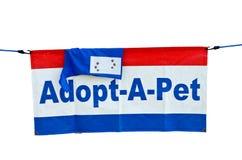 Indicador del Adoptar-UNO-Animal doméstico Fotos de archivo libres de regalías
