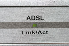 Indicador del ADSL Fotos de archivo
