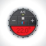 Indicador del aire acondicionado con la exhibición roja Imagenes de archivo