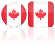 Indicador del botón de Canadá Foto de archivo