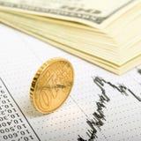 Indicador del comercio de divisas. Fotos de archivo libres de regalías