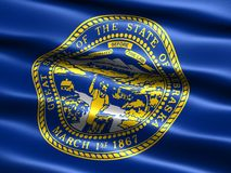 Indicador del estado de Nebraska ilustración del vector