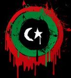 Indicador del grunge de Libia Imagen de archivo libre de regalías