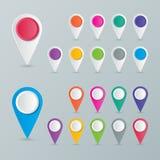 Indicador del mapa Imagen de archivo libre de regalías