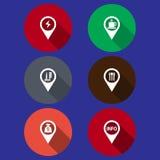 Indicador del mapa Fotografía de archivo libre de regalías