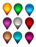 Indicador del mapa colorido ilustración del vector