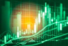 Indicador del mercado de acción y opinión de datos financieros del LED doble Fotos de archivo libres de regalías