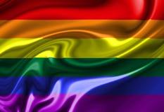 Indicador del orgullo gay Fotografía de archivo
