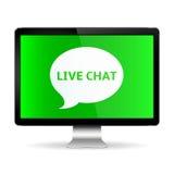 Indicador digital con Live Chat Imagenes de archivo