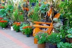 Indicador do jardim da queda fotografia de stock royalty free