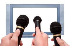 Indicador do LCD HDTV do plasma Imagens de Stock Royalty Free