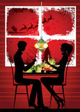 Indicador do Natal e jantar do Natal. Fotos de Stock Royalty Free