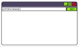 Indicador do navegador Imagens de Stock Royalty Free