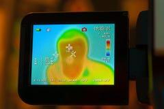 Indicador do termômetro infravermelho Fotos de Stock Royalty Free