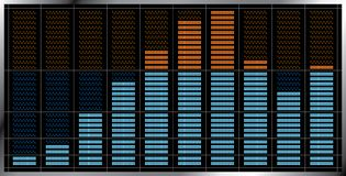 Indicador - equalizador musical. Imagenes de archivo