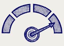 Indicador. Estilo do Doodle Fotografia de Stock