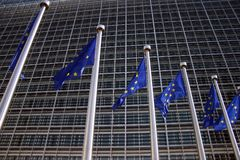 Indicador europeo Bruselas fotos de archivo libres de regalías