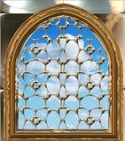 Indicador gótico ou do scifi com céu azul Imagem de Stock Royalty Free