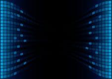 Indicador gráfico azul do equalizador ilustração stock