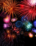 Indicador grande dos fogos-de-artifício festivo Imagens de Stock Royalty Free