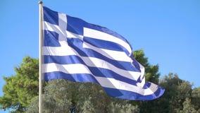 Indicador griego que agita almacen de metraje de vídeo
