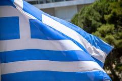 Indicador griego que agita imagen de archivo