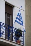 Indicador griego que agita imagen de archivo libre de regalías