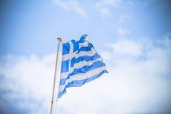 Indicador griego que agita fotos de archivo libres de regalías