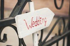Indicador hermoso de la boda fotos de archivo
