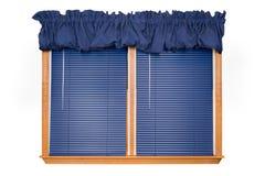 Indicador isolado com cortinas (trajeto de grampeamento) foto de stock